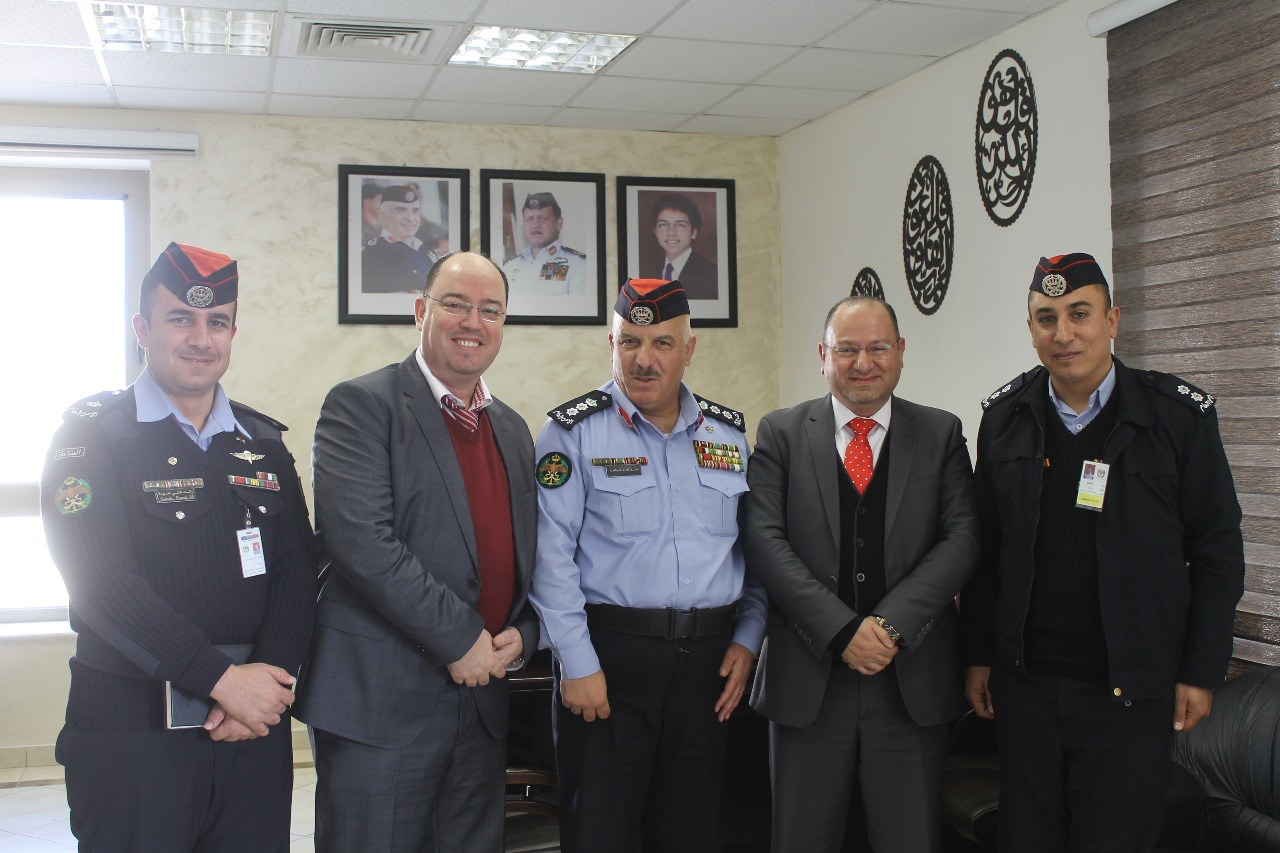 Falcons Soft Meeting with the Colonel Mr. Khaled Al Nawafleh